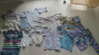 Пакет вещей для мальчика распашонки, ползунки, боди. Рост: 50-56, 56-62, 62-68, 68-74, 74-80 см