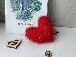 Сердечко вязаное - валентинка
