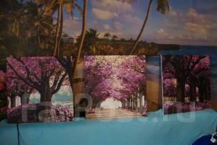 Продам три готовых картины по номерам (триптих) с крепежами