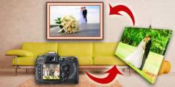 Фотопечать на холсте изготовление картин с фото или картинкой от 500р.