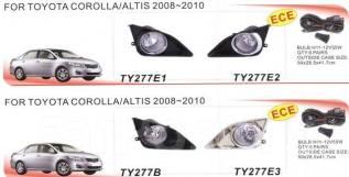 Фара противотуманная. Toyota: Corolla Fielder, Isis, Prius, Corolla, Mark X, Scion, Camry, XA, Coaster, bB, Yaris, Noah, Vios, Sai, Avanza, Premio, Co...