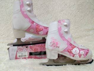 Фигурные коньки для девочки. размер: 35, фитнес-коньки