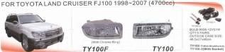 Фара противотуманная. Toyota Land Cruiser, UZJ100, FZJ100, HDJ100L, UZJ100L, UZJ100W, HDJ100, J100, HZJ71V, HZJ76V, HZJ71, HZJ74K, HZJ74V, HZJ76, HZJ7...