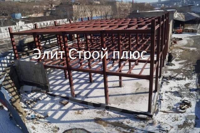 Здания из сэндвич-панелей, монтаж металлоконструкций