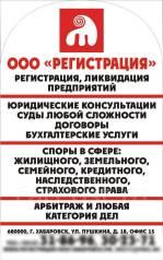 Суды, Споры Жилищные, Пенсионные, Прочие, Арбитраж, Регистрация ООО