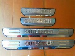 Накладка на порог. Mitsubishi Outlander, GF2W, GF3W, GF4W, GF7W, GF8W, GG2W Двигатели: 4B11, 4B12, 4J11, 4J12, 6B31