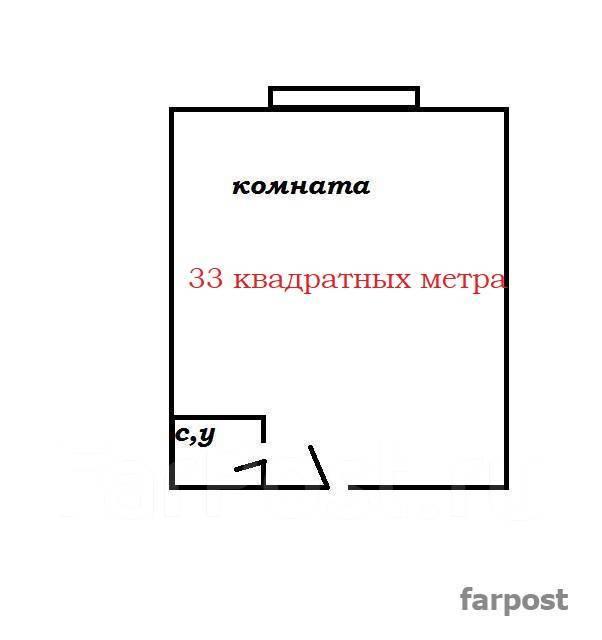 Гостинка, улица Окатовая 14. Чуркин, агентство, 18 кв.м. План квартиры
