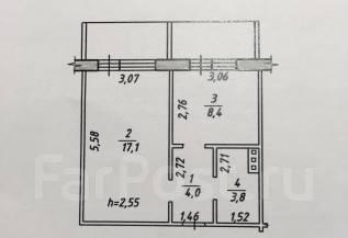 1-комнатная, улица Морозова Павла Леонтьевича 96. Индустриальный, частное лицо, 33 кв.м.