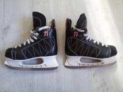 Коньки хоккейные Ranger 37 размер (хорошее состояние) чёрные. размер: 37, хоккейные коньки