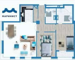 3-комнатная, улица Фонтанная 3. Центр, застройщик, 100 кв.м.