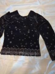 Для умеющих шить - раскроенное бархатное платье на девочку ростом140см