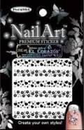 Наклейка для ногтей на липкой основе со стразами EL Corazon