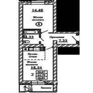 2-комнатная, западная 254. Краснообск, агентство, 46 кв.м.