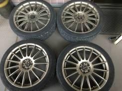 Литье Lehrmeister 5Х100 7,5J на летней резине Pirelli 215/45/R18. 7.5x18 5x100.00 ET50