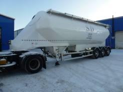 Feldbinder. Полуприцеп цистерна силосного типа для сыпучих грузов, 40 000 кг.