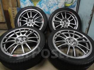 Продам Крутой Редкий Спорт Enkei GTC01+Лето 215/45R17Toyota, Subaru. 7.5x17 5x100.00 ET48