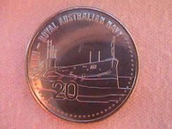 Австралия 20 центов 2015 г. Подводная лодка, I-я Мировая.
