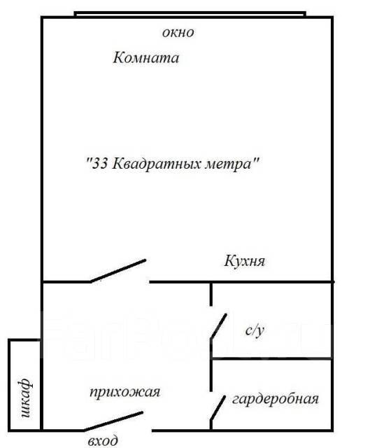1-комнатная, улица Аксаковская 3. Центр, агентство, 50 кв.м. План квартиры