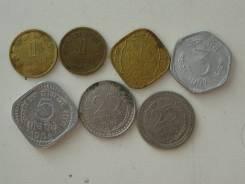 Индия подборка из 7 монет. Без повторов! Торги с 1 рубля!