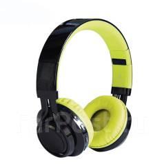 Беспроводные bluetooth наушники MP3 плеером и цветомузыкой (зеленые)!