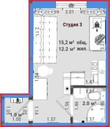 Квартира - студия с московской пропиской по доступной цене