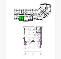1-комнатная, улица Крестьянская 179. жд вокзал, слобода, агентство, 39 кв.м. План квартиры