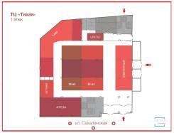 Новый ТЦ на Тихой — 20 - 30 - 50 - 200 - 850 м. — последние площади. 800 кв.м., улица Сахалинская 41г, р-н Тихая. План помещения