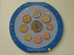 """Франция набор евро монет 2002 г. """"Маленький принц"""". Буклет, жетон."""