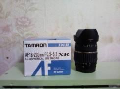 Объектив Tamron 18-200 мм. Для Canon, диаметр фильтра 62 мм