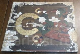 Икона. Николай Чудотворец. 19 век. Венец сусальное серебро. Оригинал. Под заказ