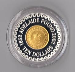 * Австралия 10 долларов 2002 Adelaide Pound * Монета на монете