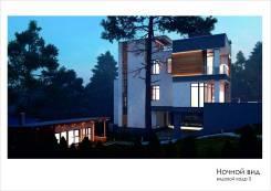 Современный дом в стиле Hi-Tech. Улица Яхтовая, р-н Океанская, площадь дома 320 кв.м., скважина, электричество 20 кВт, отопление жидкотопливное, от а...