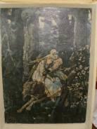 Большая картина (репродукция)Иван-царевич на сером волке 1969 год. Оригинал