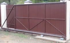 Изготовление откатных ворот любой сложности