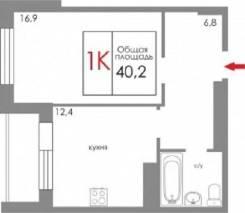 1-комнатная, улица Щорса 103. Чкаловский, частное лицо, 40 кв.м. План квартиры