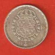 1 крона 1946 г. Швеция, серебро, 7 гр.