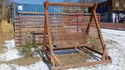 Изготовление деревянных качелей