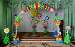 Выпускной в детском саду, оформление шарами
