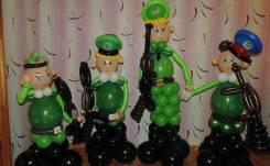 23 февраля, оформление шарами, подарки мужчинам