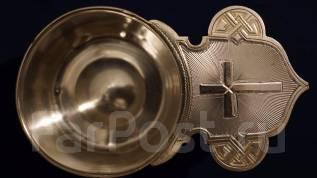 Старинный серебряный корец для теплоты и вина. Москва, конец XIX века. Оригинал