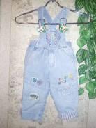 Полукомбинезоны джинсовые. Рост: 80-86, 86-92 см
