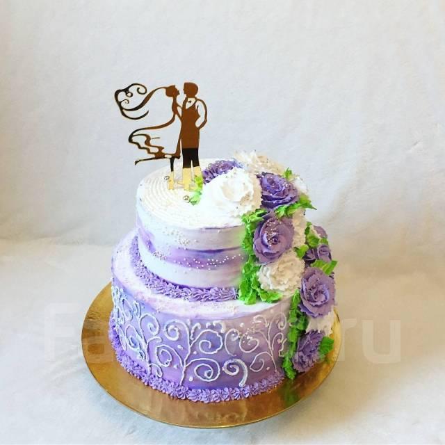Свадебный торт на заказ! капкейки! Доставка! Елена!