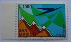 1972 Сан-Марино. Авиапочта. 1 марка . Чистая