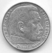 5 марок 1936г. Германия (A). Серебро.