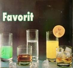 Стаканы Favorit раритет (чешское стекло). Оригинал