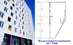 Нежилое помещение 89 кв. м 1 этаж от застройщика. Улица Первомайская 76а, р-н ж/д вокзал, 89 кв.м. План помещения