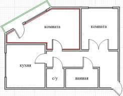 Комната, улица Анны Щетининой 25. Снеговая падь, частное лицо, 60 кв.м. План квартиры