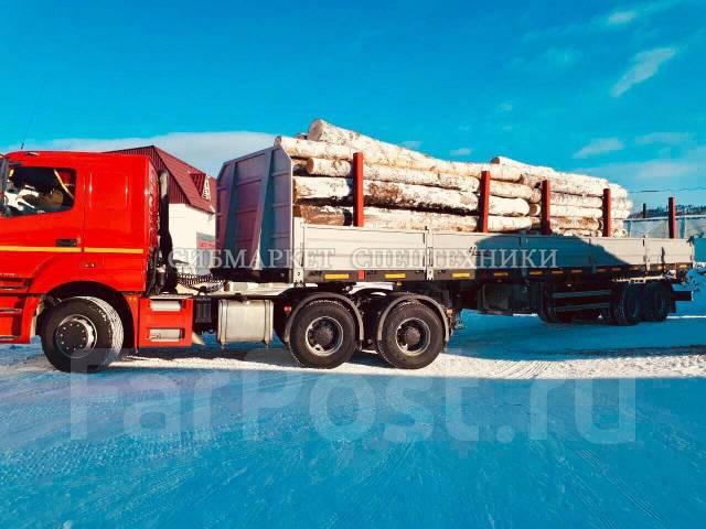 Чмзап. Полуприцеп бортовой-сортиментовоз-контейнеровоз - оси и подвеска BPW, 37 000кг.