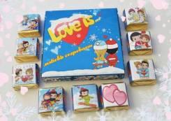 Шоколадный набор Love is. Подарок на 14 февраля