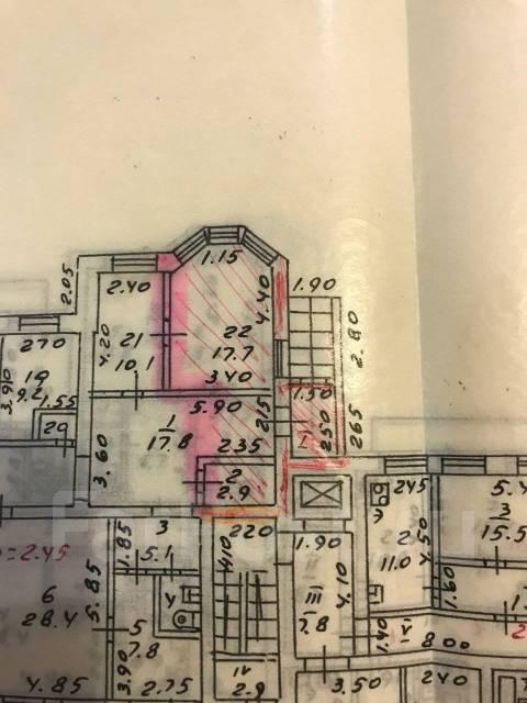 Офис с отдельным входом по ул. Давыдова, д. 7. 30кв.м., улица Давыдова 7, р-н Вторая речка. План помещения